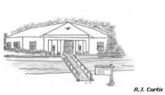 Pen drawing of senior Center